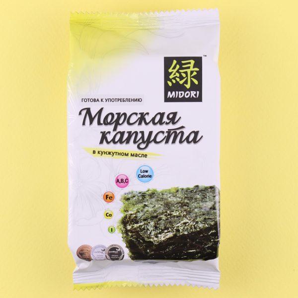 Морская капуста в чипсах с кунжутным маслом