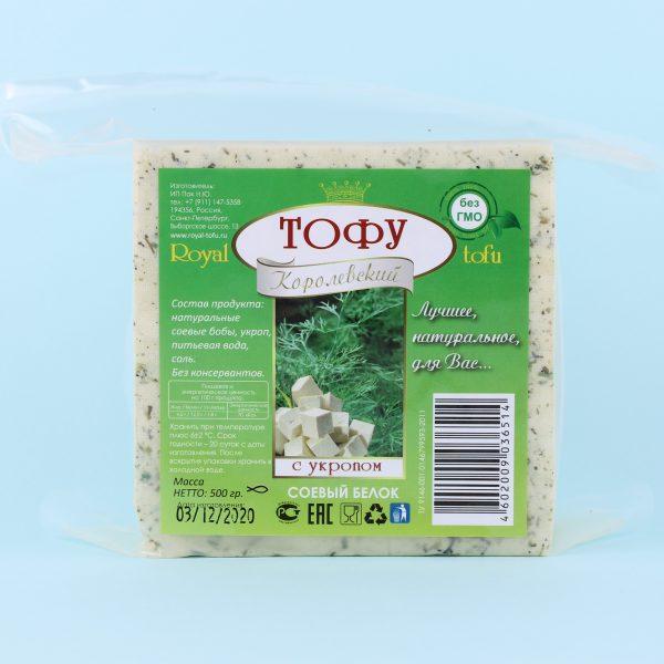 Тофу с укропом