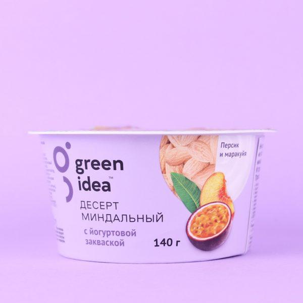 Йогурт миндальный Персик-маракуйя