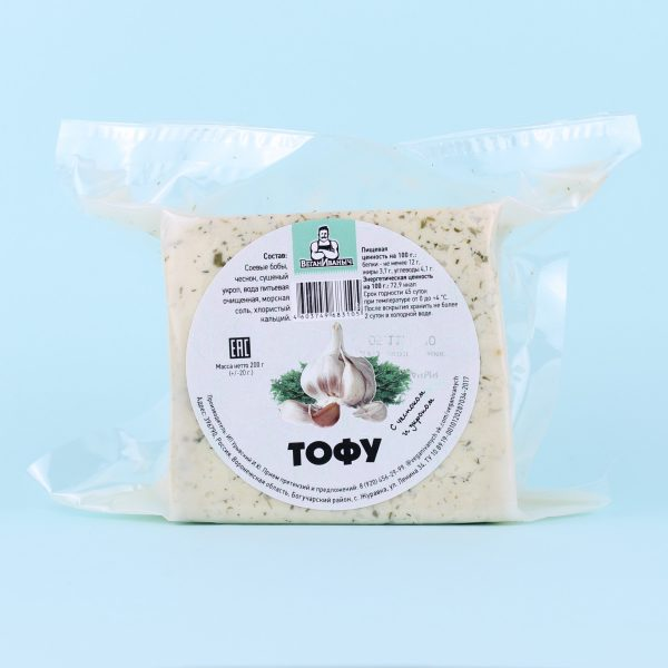 Тофу чеснок и укроп