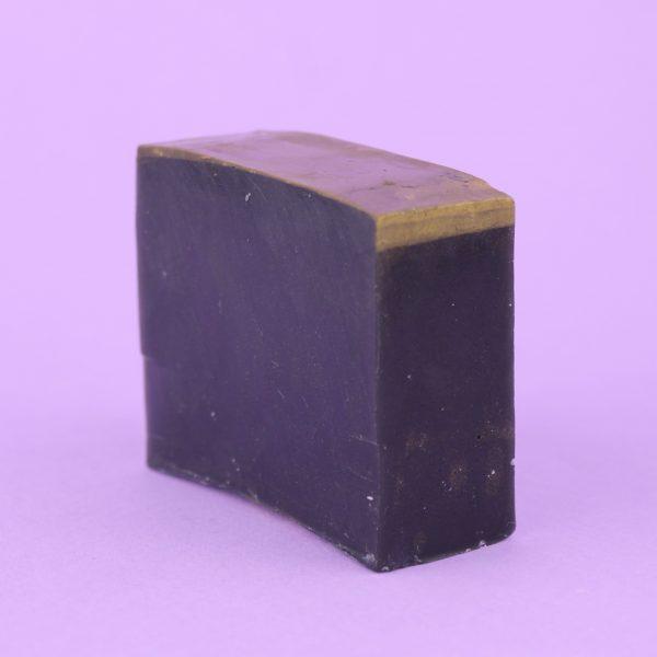 Мыло чёрное с углём и пачули (без упаковки)