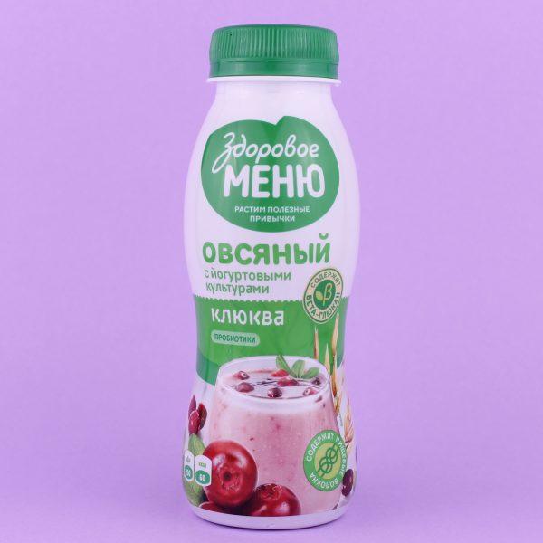 Йогурт овсяный Клюква