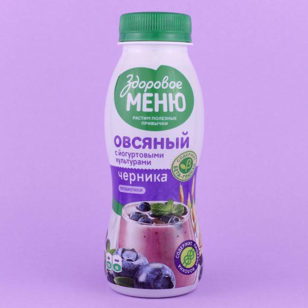 Йогурт овсяный Черника
