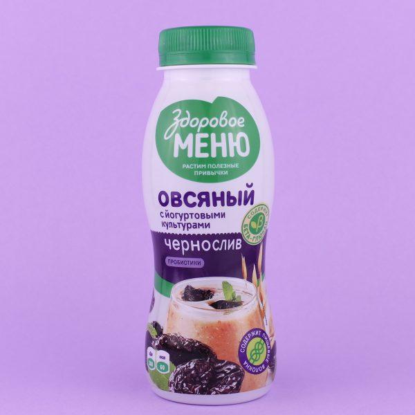 Йогурт овсяный Чернослив